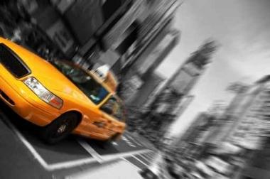 Fototapety PEJZAŻ MIEJSKI taxi 11117