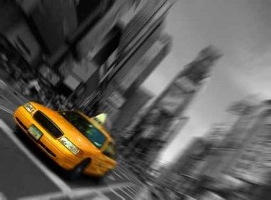 Fototapety PEJZAŻ MIEJSKI taxi 11118