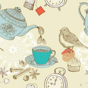 Fototapety DO KUCHNI herbata i kawa time 12481