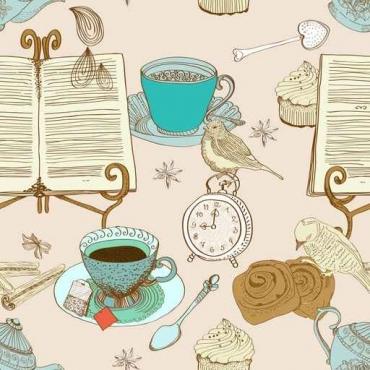 Fototapety DO KUCHNI herbata i kawa time 12482