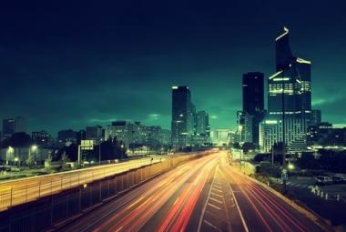 Fototapety PEJZAŻ MIEJSKI miasto nocą 13643