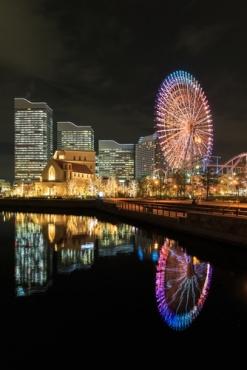 Fototapety PEJZAŻ MIEJSKI miasto nocą 13645