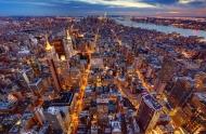 Fototapety PEJZAŻ MIEJSKI miasto nocą 13680 mini