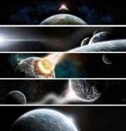 Fototapety KOSMOS planety 2230 mini