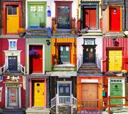 Fototapety ULICZKI drzwi 4369-big