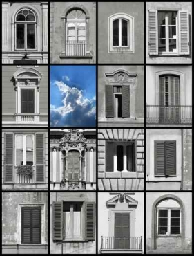Fototapety ULICZKI okna 4374