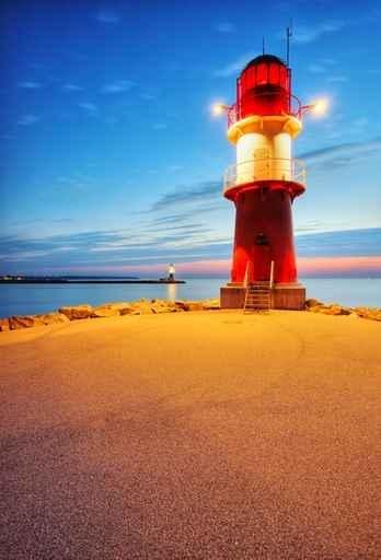Fototapety BUDOWLE, ZAMKI latarnia morska 513-big
