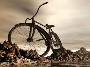 Fototapety ULICZKI rowery 5232