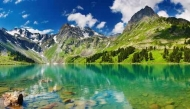 Fototapety PEJZAŻ WODNY góry i doliny 5266 mini