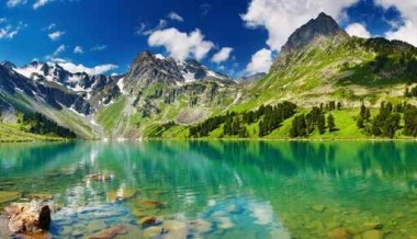 Fototapety PEJZAŻ WODNY góry i doliny 5266