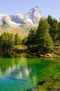 Fototapety PEJZAŻ WODNY góry i doliny 5275 mini