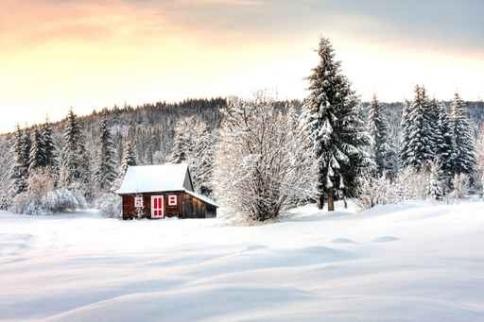 Fototapety PEJZAŻ zima 5592-big