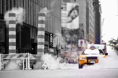 Fototapety PEJZAŻ MIEJSKI taxi 6222