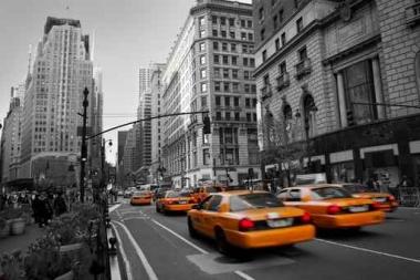 Fototapety PEJZAŻ MIEJSKI taxi 6227