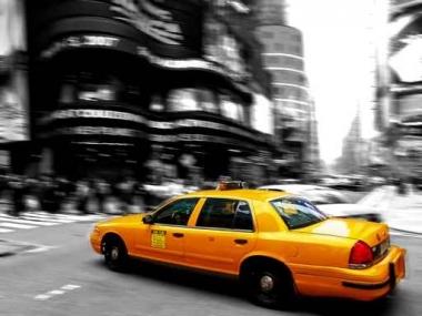 Fototapety PEJZAŻ MIEJSKI taxi 6228