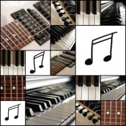 Fototapety MUZYKA instrumenty 6496 mini