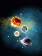Fototapety KOSMOS planety 7755 mini