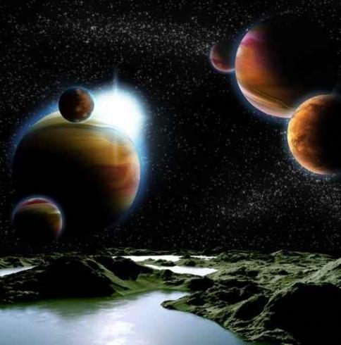 Fototapety KOSMOS planety 7766-big