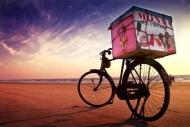 Fototapety ULICZKI rowery 8519 mini