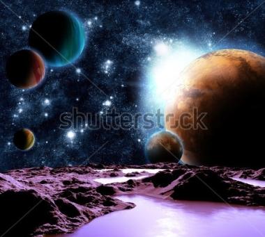 Fototapety KOSMOS planety 8569