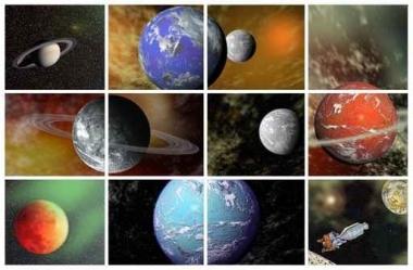 Fototapety KOSMOS planety 9876