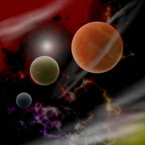 Fototapety KOSMOS planety 9877-big