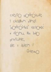notatka od klienta